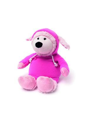 Игрушка-грелка Овечка в худи розовая Warmies. Цвет: розовый