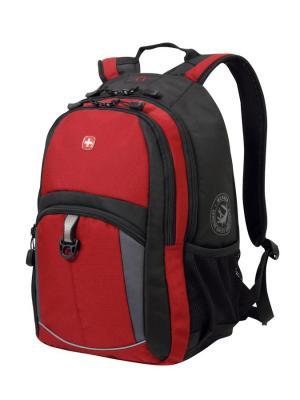 Рюкзак WENGER. Цвет: черный, серый, красный