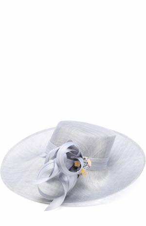Шляпа с декором Philip Treacy. Цвет: светло-голубой