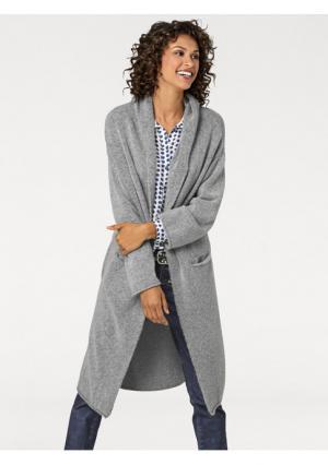Трикотажное пальто B.C. BEST CONNECTIONS by Heine. Цвет: серый меланжевый