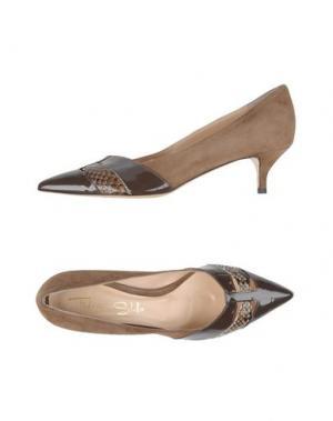 Туфли FEDERICA STELLA. Цвет: темно-коричневый
