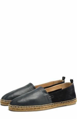 Кожаные эспадрильи на джутовой подошве Castaner. Цвет: темно-синий