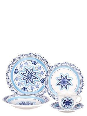 Набор столовый Пуэбла Biona. Цвет: синий, белый