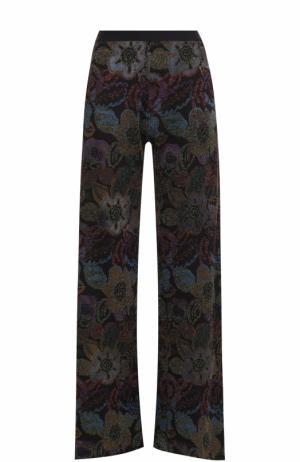 Расклешенные вязаные брюки с принтом Nude. Цвет: разноцветный