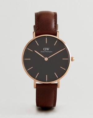 Daniel Wellington Часы с коричневым кожаным ремешком 32 мм DW00100165. Цвет: коричневый