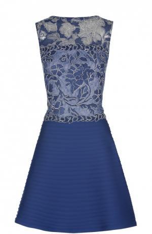 Вечернее платье Tadashi Shoji. Цвет: синий