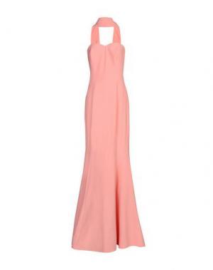 Длинное платье MUSANI GOLD. Цвет: лососево-розовый