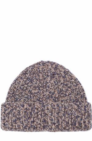Кашемировая шапка бини Ermenegildo Zegna. Цвет: коричневый