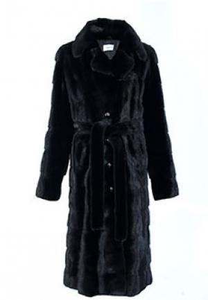 Пальто меховое MALA MATI. Цвет: черный