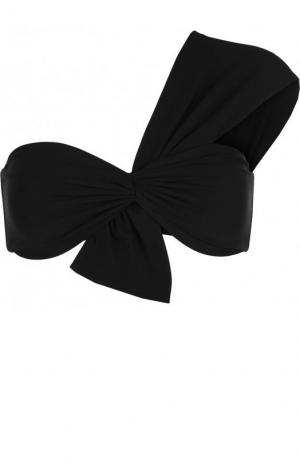 Однотонный бра асимметричного кроя с драпировкой Marysia. Цвет: черный