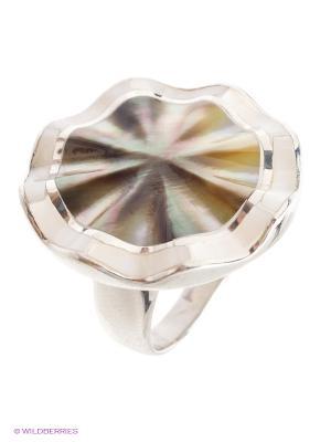 Кольцо BALEX. Цвет: серебристый, белый, серо-коричневый
