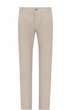 Хлопковые брюки прямого кроя 2 Men Jeans. Цвет: бежевый