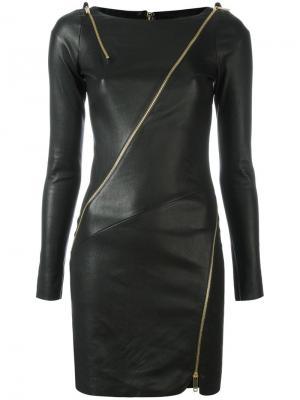 Платье с молниями Jitrois. Цвет: чёрный
