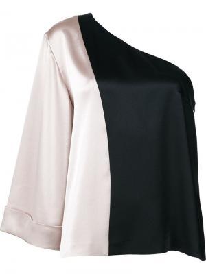 Блузка на одно плечо Natasha Zinko. Цвет: чёрный