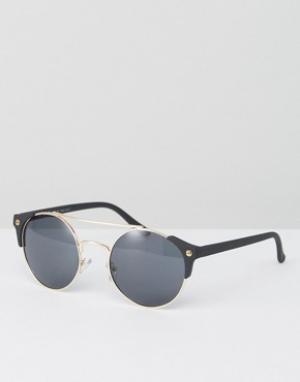 AJ Morgan Солнцезащитные очки с планкой сверху. Цвет: черный