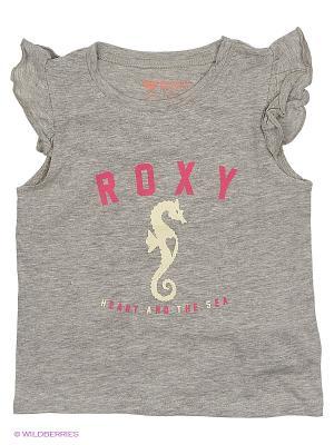 Футболка ROXY. Цвет: серый