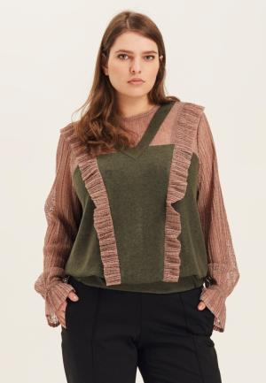 Блуза W&B. Цвет: хаки