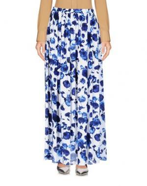 Длинная юбка eMMe. Цвет: белый