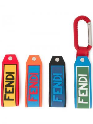 Брелок с логотипом Fendi. Цвет: красный
