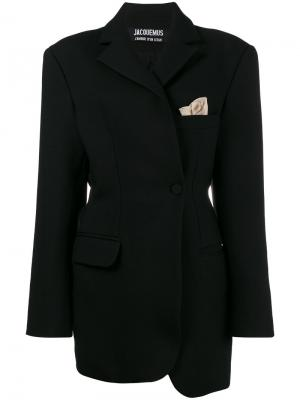 Асимметричный блейзер La Veste De Costume Jacquemus. Цвет: чёрный