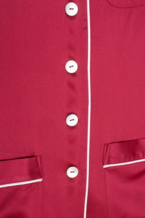 Шелковая пижама Coco Olivia von Halle. Цвет: красный