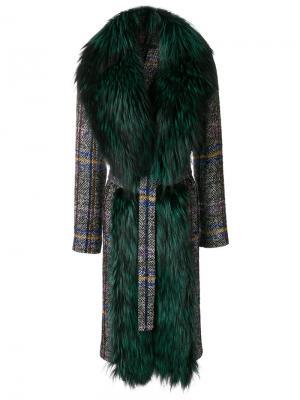 Пальто Michigan Simonetta Ravizza. Цвет: многоцветный
