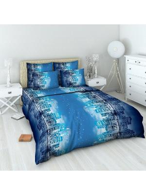 Комплект постельного белья Василиса. Цвет: синий