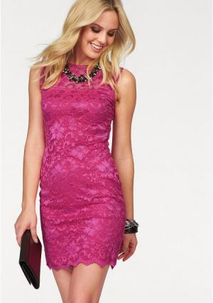 Платье MELROSE. Цвет: ярко-розовый