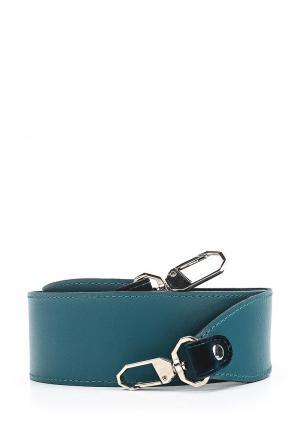 Ремень для сумки Asya Malbershtein. Цвет: бирюзовый