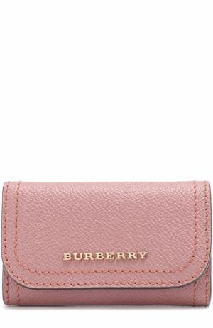 Кожаный футляр для ключей Burberry. Цвет: розовый