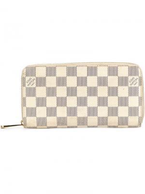 Кошелек в клетку Louis Vuitton Vintage. Цвет: белый