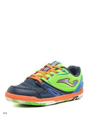 Футзальная Обувь SALA MAX Joma. Цвет: темно-синий, салатовый