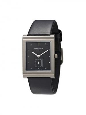 Часы DL0581NM Romanson. Цвет: черный, серебристый