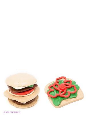 Набор для сэндвичей Green Toys. Цвет: зеленый, бежевый, красный