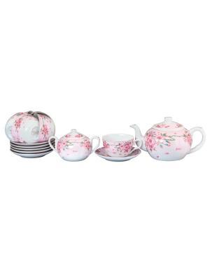 Чайный набор Сакура Elan Gallery. Цвет: белый, розовый