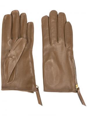 Перчатки с молниями Want Les Essentiels De La Vie. Цвет: коричневый