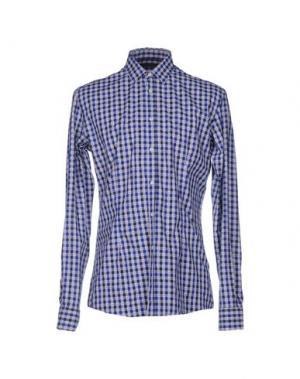 Pубашка GREY DANIELE ALESSANDRINI. Цвет: темно-синий