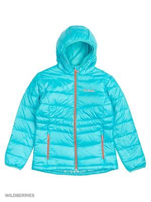 Куртки Columbia. Цвет: бирюзовый