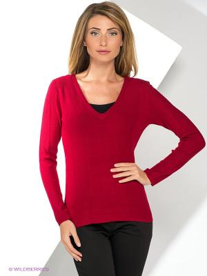 Пуловер Yuka. Цвет: бордовый