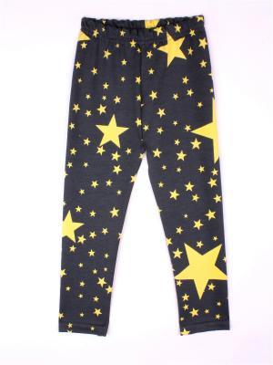 Леггинсы Зведы-Космос КОТМАРКОТ. Цвет: серо-коричневый, желтый