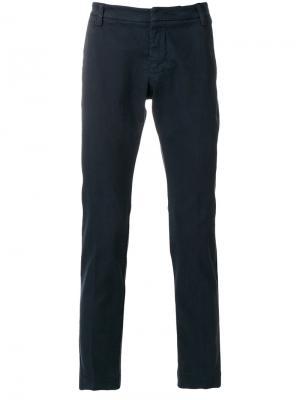 Узкие брюки Entre Amis. Цвет: синий