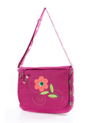 Сумка Vittorio Richi. Цвет: розовый, зеленый