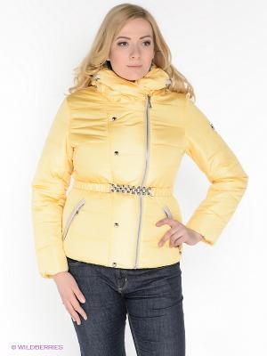 Куртка X'cluSIve. Цвет: желтый