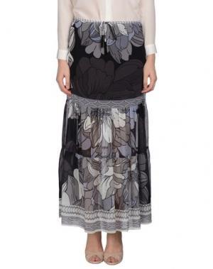 Длинная юбка HALE BOB. Цвет: стальной серый