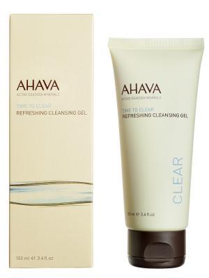 Гель освежающий и очищающий  AHAVA. Цвет: прозрачный