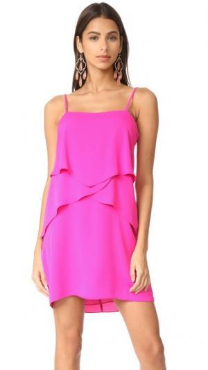 Платье Sienna Amanda Uprichard. Цвет: ярко-розовый