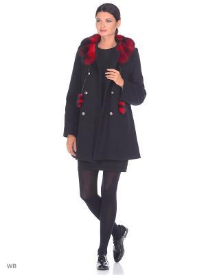 Пальто Fart Favorita. Цвет: черный, красный