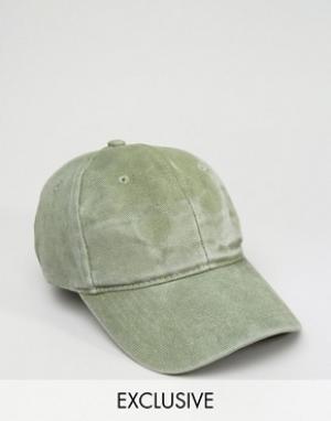 Reclaimed Vintage Бейсболка цвета хаки. Цвет: зеленый