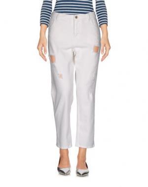 Джинсовые брюки PENCE. Цвет: белый