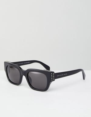 Marc By Jacobs Квадратные солнцезащитные очки. Цвет: черный